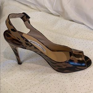 Manolo Blahnik leopard shoes